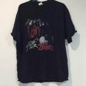 Korn x Rob Zombie 2016 tour tee